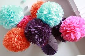 How To DIY Paper Pom Tutorial
