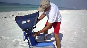 Rio Hi Boy Beach Chair With Canopy by Beach Chair With Canopy Easy Clip On For Shade Youtube