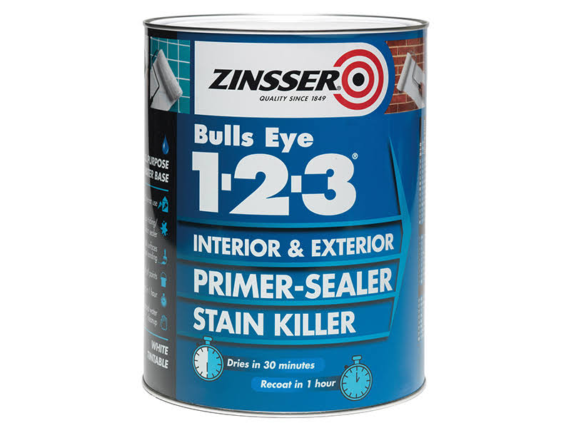 Zinsser Primer-Sealer Stain Killer - Interior & Exterior, White, 500ml