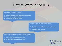 How To Write a Letter of Explanation to the IRS From Success Tax R…