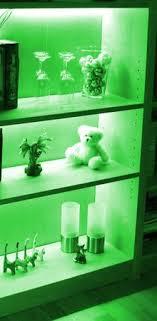 led regalbeleuchtung 3x0 3m grün mit netzteil und verteiler regal küche deko