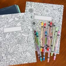 FREE Printable Binder Covers To Color For Back School