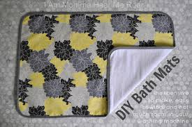 Yellow Gray Bathroom Rugs by I Am Momma Hear Me Roar Diy Bath Mats
