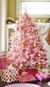 Interior Pink Christmas Trees Decor Quotes Photos Cookies Cakes Holiday Classy Tree 8