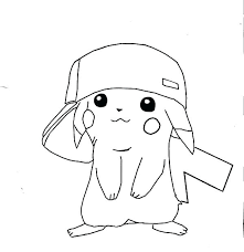 Ash And Pikachu Coloring Pages Cute Printable Baby