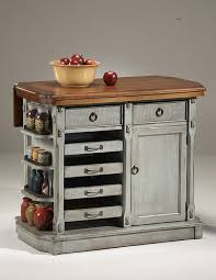 Rustic Kitchen Ideas with Rustic Gray Movable Kitchen Islands