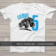 100 Monster Truck T Shirts Boys Birthday Shirt Monster Truck Personalized Tshirt
