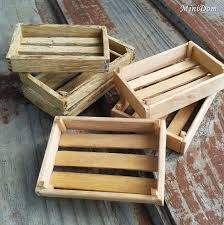Accessories For Dolls Miniature Furniture Dollhouse Food Wooden Boxes