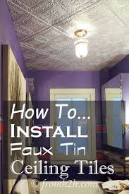 Do All Acoustic Ceiling Tiles Have Asbestos by Best 25 Faux Tin Ceiling Tiles Ideas On Pinterest Ceiling Tiles