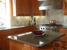 led kitchen lighting cabinet big tile backsplash crema pearl