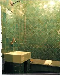 green tile kitchen backsplash