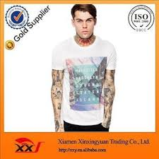 Chest Print Temperature Color Change T Shirt Urban Printing Shirts Cheap White