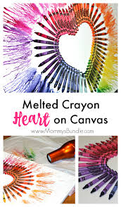 Melt Crayons With A Blowdryer To Create Beautiful Art Piece Or Decor For Valentines Day