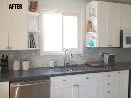 grey granite countertop connected by stainless steel curved