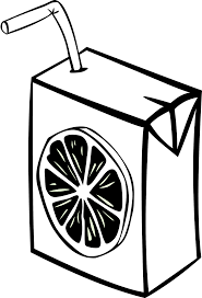 Drink Free Stock Illustration of a juice box