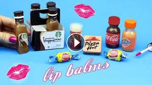 DIY Lip Balm 5 Miniature Starbucks Soda Pizza Bubblegum Gloss DIYs How To