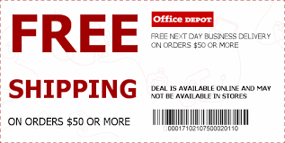 Get Free Shipping on All Orders over $50 at fice Depot fice