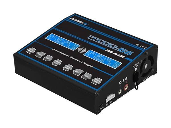Protek RC PTK-8523 Prodigy 66 Duo AC/DC LiHV/LiPo Battery Balance Charger (6S/6A/50W)