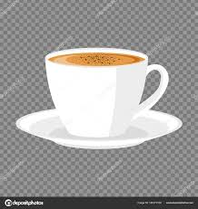 White Cup Of Coffee On A Transparent Background Stock Vector