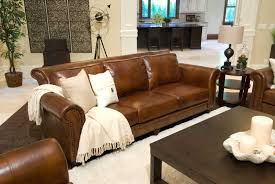 Furniture Awesome Rustic Leather Sofa Design Ideas