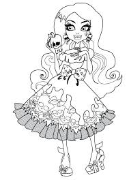 Monster High Coloring Pages Draculaura Baby Operetta 13