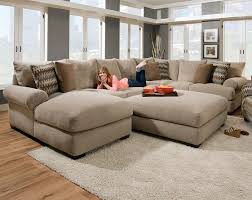 Cindy Crawford Fontaine Sectional Sofa by Tan Couch Set With Ottoman Bacarat Taupe 3 Piece Sectional Sofa