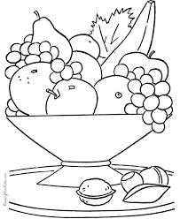 Healthy Foods Coloring Pages