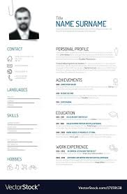 Creative Minimalist Resume Template Royalty Free Vector Image Pathfinder Templates Pdf
