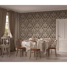 a s création vliestapete trendwall ornament schwarz beige