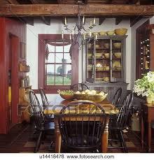 eßzimmer früh amerikanisch weiß wände preiselbeere