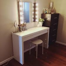 makeup dresser with mirror awesome modern design white stained