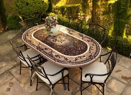Awesome Oval Bistro Table with Oval Patio Dining Table Outdoor