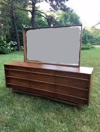 Kent Coffey Signet Dresser by Mid Century Modern Curved Front Dresser With Mirror 9 Drawer