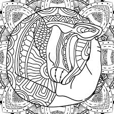 Coloring Book Page Animal With Patterns Antistress Illustartion