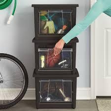 Rubbermaid Patio Storage Bins by Rubbermaid 14 Gallon 56 Quart All Access Medium Organizer Set