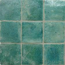 ossido glazed terracotta tile but aeria teal blue green