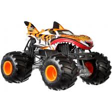 100 Shark Wreak Monster Truck Hot Wheels S 124 Scale Tiger Walmartcom