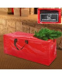 Strong Camel Heavy Duty Large Artificial Christmas Tree Storage Bag For Clean Up Holiday Red