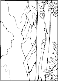 Mountain Landscape Coloring Pages Printable
