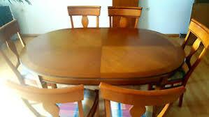 esszimmertisch inkl 6 stühlen mit stoffpolster holz in der