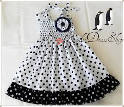 white and navy blue polka dot dress for girls navy blue and