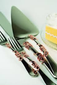 HALF PRICE Rose gold wedding cake server knife forks cake cutting
