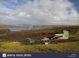 100 Colbost Beached Broken Boat Loch Dunvegan Isle Of Skye Inner