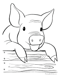 Printable Coloring Pages Animals Sheets Farm Free Pig Page