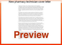 New pharmacy technician cover letter College paper Academic Service