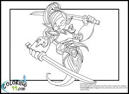Skylanders Eye Brawl Coloring Pages Ninjini