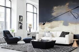 in schwarz weiß wohnen schöner wohnen
