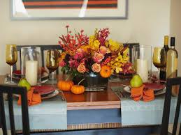 Casual Kitchen Table Centerpiece Ideas by Simple Cool Kithen Dining Thanksgiving Table Decorations Come With