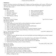 Warehouse Manager Job Description Resume Sample Inventory Template Example Ware