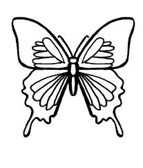 Butterfly Coloring Pages Black And White